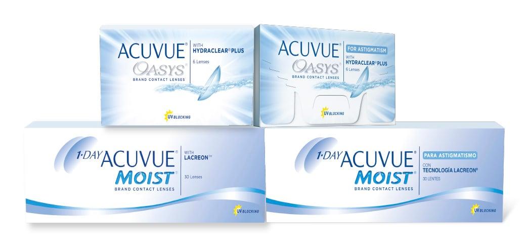 Productos de la marca ACUVUE ®